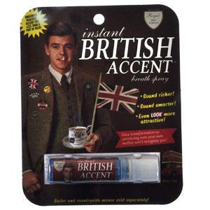 "Blue Q ""Instant British Accent"" Breath Spray"
