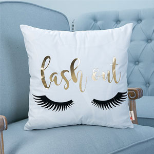Lash Out Throw Pillow Case