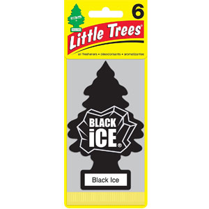 Little Trees Black Ice Air Freshener