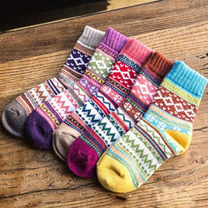 Loritta Warm Wool Crew Socks