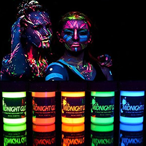 Midnight Glo UV Body Paint Neon Glow Kit
