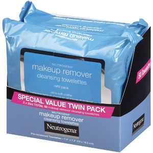 Neutrogena Makeup Removing Wipes, 25 Ct, Twin Pack