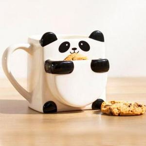 Panda Hug Ceramic Coffee Mug