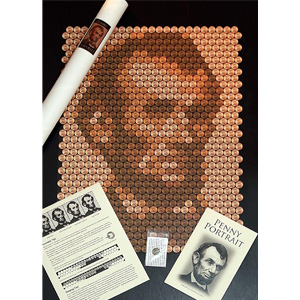 Penny Portrait Abe Lincoln Poster