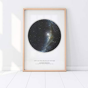 Personalized Star Map Print