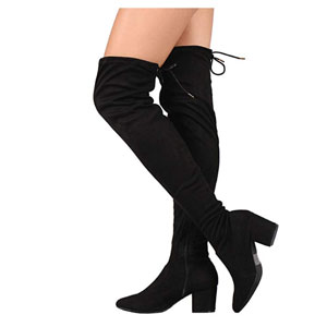 RF ROOM OF FASHION Suede Drawstring Boots