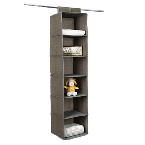 SONGMICS 6-Shelf Hanging Closet Organizer