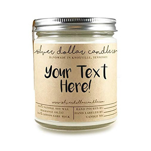 Silver Dollar Personalized Scented Candle
