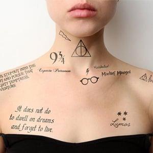 Tattify Harry Potter Temporary Tattoos