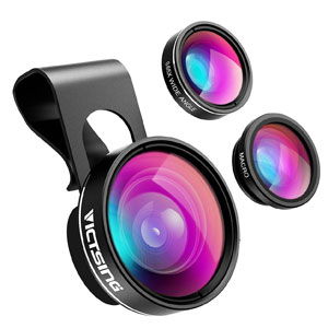 VicTsing 3-in-1 Phone Camera Lens Kit