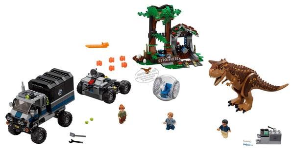 LEGO Jurassic World: Fallen Kingdom Complete Carnotaurus Set