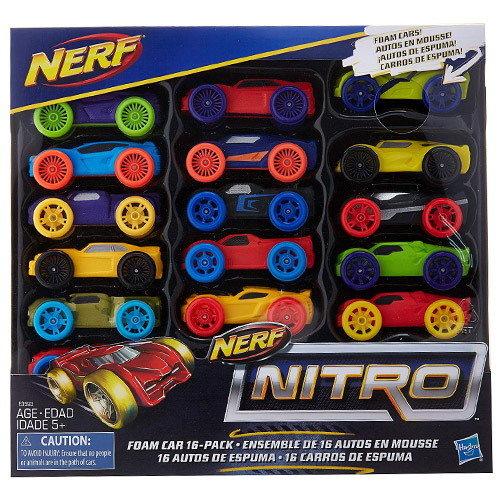 NERF NITRO FOAM CAR 16-Pack