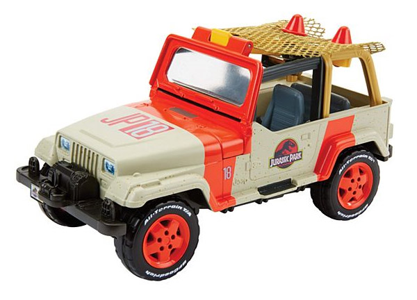 Jurassic World Matchbox Jeep with Net Launcher + Dino (FNP46)