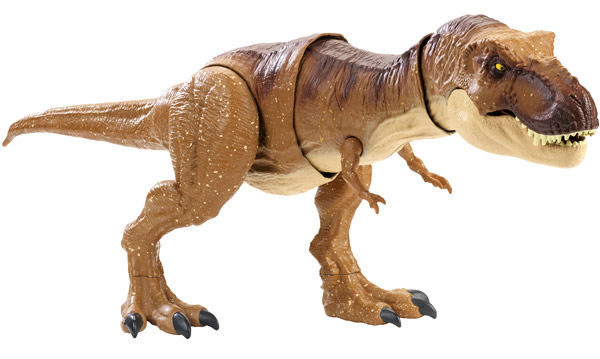Jurassic World Thrash 'N Throw Tyrannosaurus Rex Figure (FMY70)