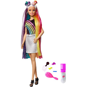 Barbie Rainbow Sparkle Hair Assortment
