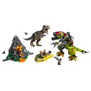 LEGO Jurassic World T. Rex vs. Dino-Mech Battle 75938