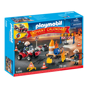 PLAYMOBIL Advent Calendar - Construction Site Fire Rescue (9486)