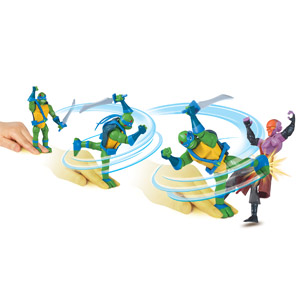 Rise of the TMNT Deluxe Ninja Spin Attack Figure Assortment