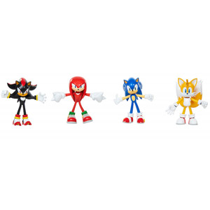 Sonic The Hedgehog 4-Inch Bendy Figures