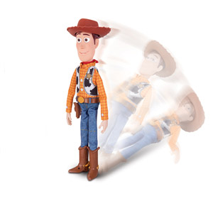 Thinkway Toy Story 4 Sheriff Woody with Interactive Drop-Down Action