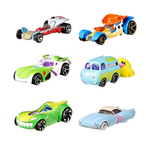 Toy Story 4 Hot Wheels Character Cars 6-Pack Collector Set