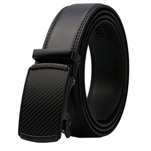Mens Real Leather Ratchet Dress Belt