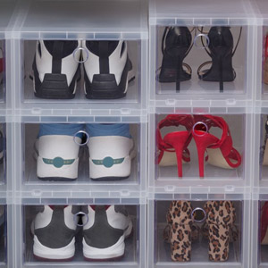 IRIS High Clear Front Access Shoe Box