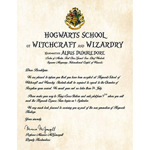 Personalized Harry Potter School Acceptance Letter