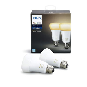 Philips Hue 2-Pack White Ambiance Dimmable LED Smart Bulb