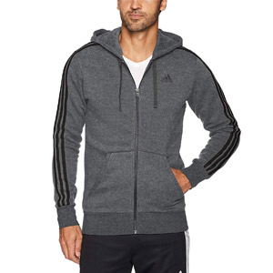 adidas 3-Stripes Full Zip Fleece Hoodie