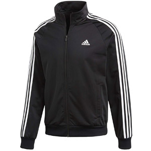 adidas Mens Essentials 3-Stripe Tricot Track Jacket