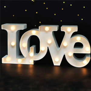 Bright Love Marquee Sign
