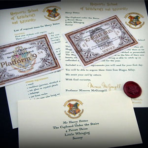 Harry Potter School Acceptance Letter