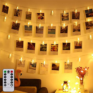 LED Photo Clip Remote String Lights