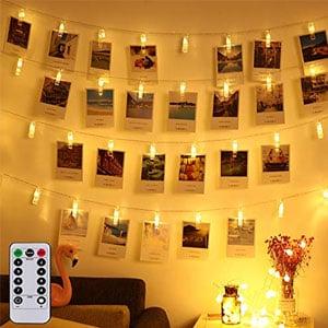 LED Photo Clip Remote String Lights