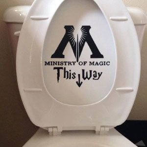 Ministry of Magic Toilet Harry Potter Decal Sticker