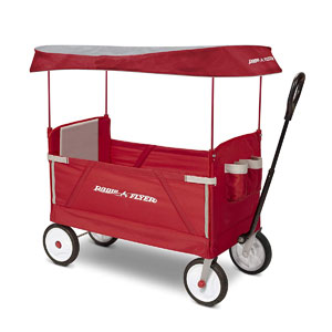 Radio Flyer 3-In-1 EZ Folding Wagon with Canopy