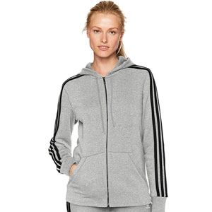 adidas Essentials Stripe Full Zip Hoodie