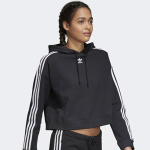 Sweat à capuche court adidas Originals pour Femme