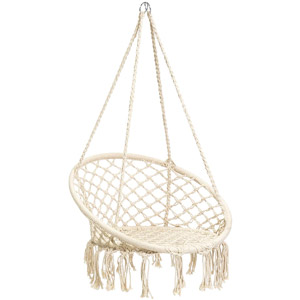 Hanging Cotton Macrame Rope Hammock