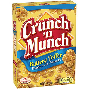 CRUNCH N MUNCH Buttery Toffee Popcorn with Peanuts, 12-Pk