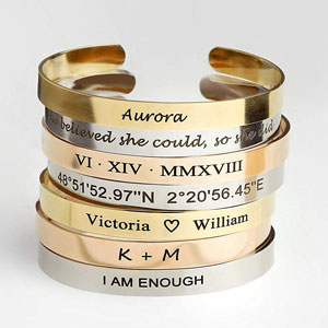 Cuff Bracelet Personalized Bangle