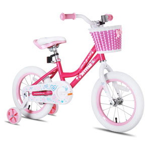 JOYSTAR Girls Bike with Training Wheels
