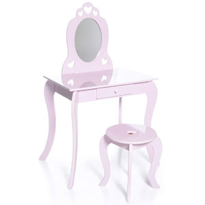 Milliard Kids Vanity Makeup Table and Chair Set