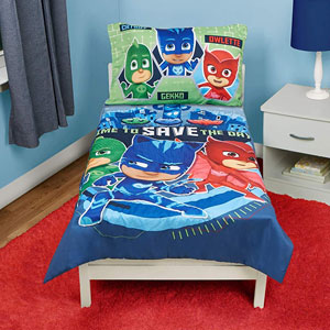 PJ Masks Time to Save The Day 4-Pc Toddler Bedding Set