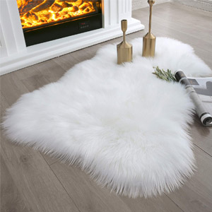 Ashler Soft Faux Sheepskin Area Rug