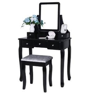 BEWISHOME Vanity Set with Mirror