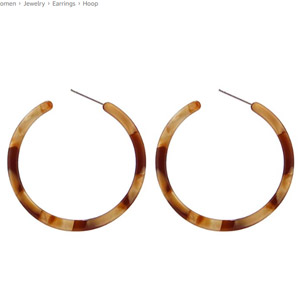 BaubleStar Tortoise Hoop Earrings