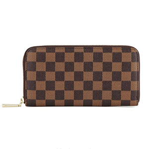 Daisy Rose Checkered Zip Around Wallet