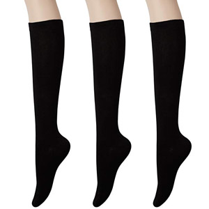 KONY Womens Cotton Knee High Socks